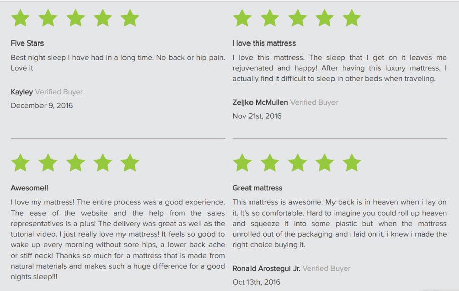 What customers love about Eco Terra mattresses